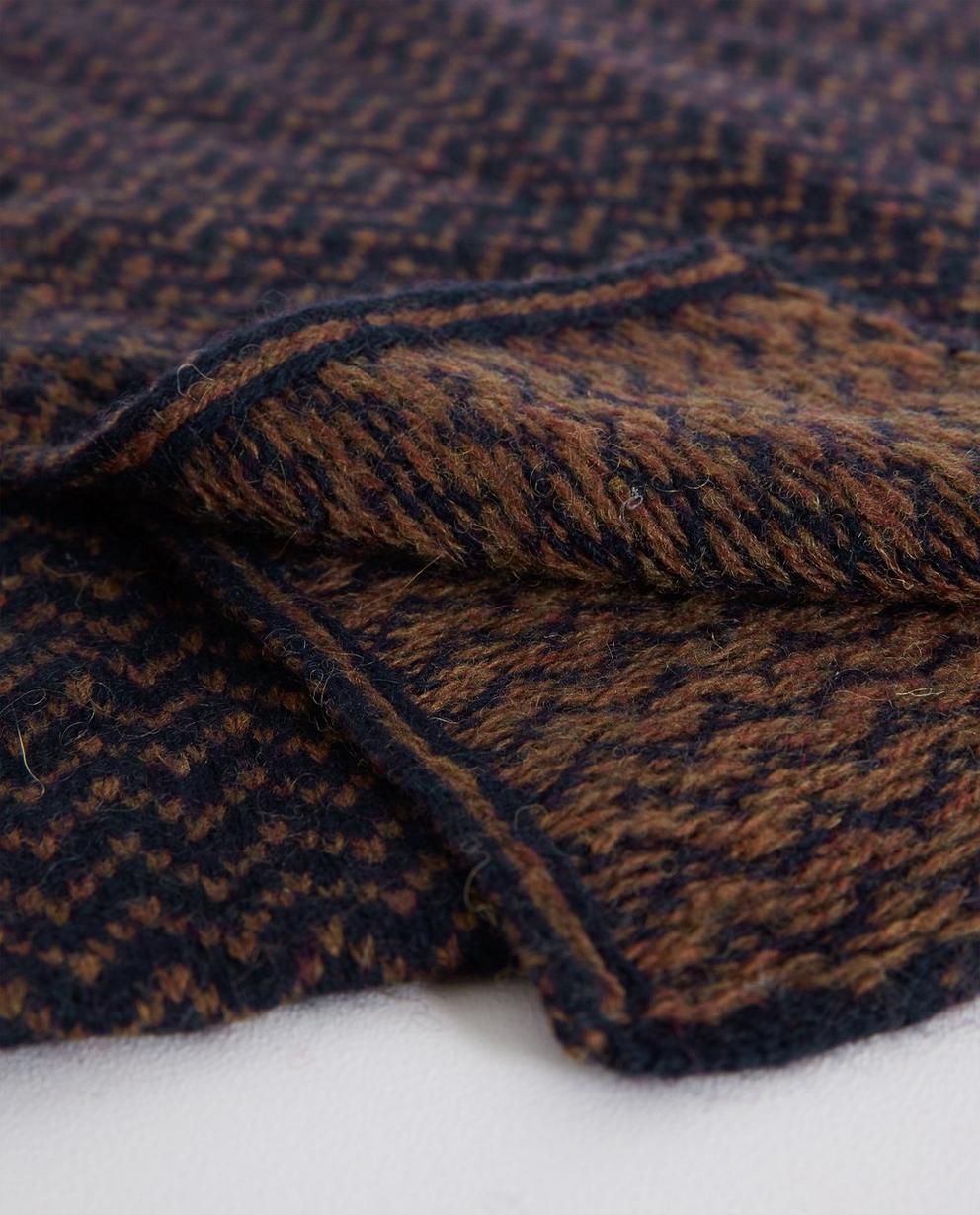 Breigoed - BLD - Wollen sjaal met zigzagpatroon